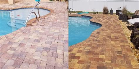 paver pool deck cleaning sealing  orange city fl
