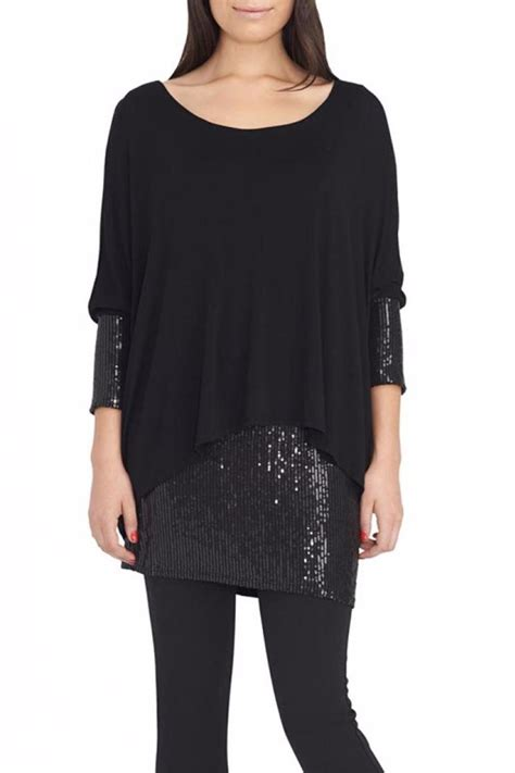 Tunic Blouse Angela 1 Angela Mara Sequin Tunic Top From Colorado By Arabella
