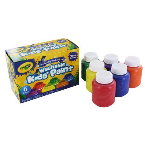crayola painting crayola washable kid s paint 6 pack 54 1204 ebay
