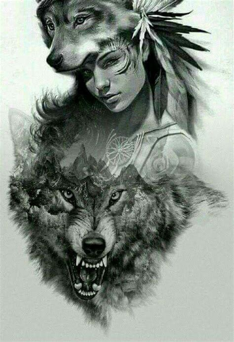 indian wolf tattoo american wolf pictures to pin on tattooskid
