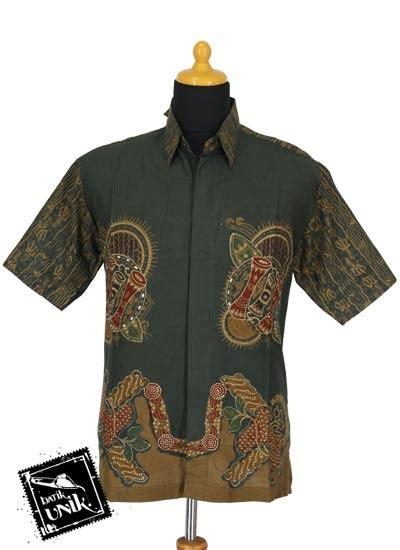 Kemeja Tulis 1 baju batik kemeja tulis motif kombinasi dua jaman kemeja