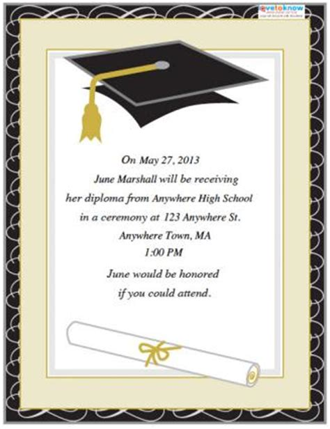 graduation invite templates free graduation invitation templates http webdesign14