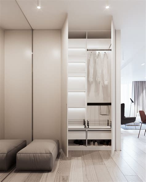 Efficient Closet Design by A Calm And Simple Family Home With Neat Features