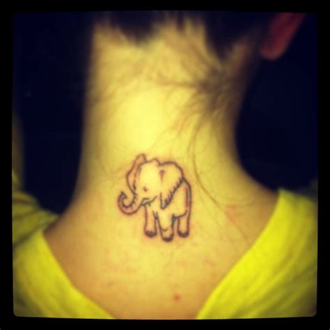 Elephant Tattoo Back Of Neck | pin by alexis beaubien on tattoos i want pinterest