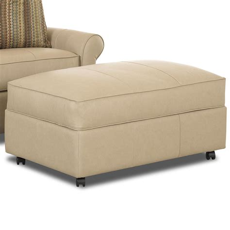 Oversized Storage Ottoman Klaussner Mayhew Large Rectangular Storage Ottoman With Casters Olinde S Furniture Ottomans