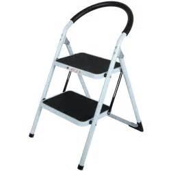 step ladders 2 tread strong steel non slip folding step