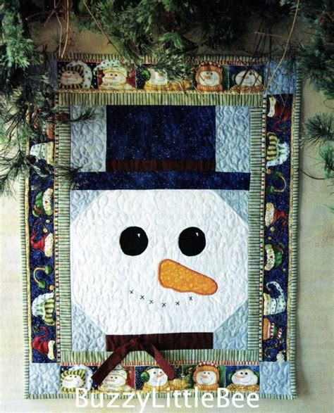 pattern for christmas wall hanging quilt quilt pattern mr snowman wall hanging winter christmas season