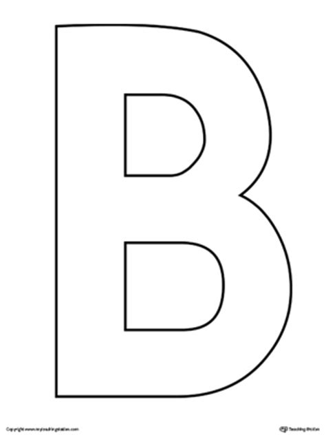 letter b template lowercase letter b color by letter worksheet