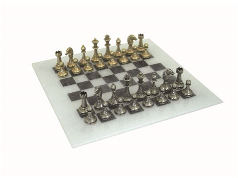 metal chess set chess set glass board metal pieces