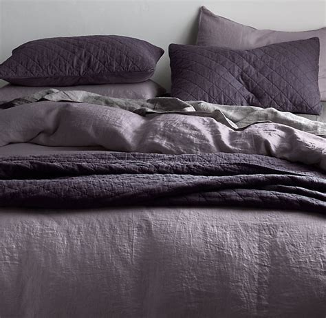 Restoration Hardware Linen Sheets Garment Dyed Linen Bedding Collection Bespoke Garment