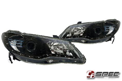 Headl Civic Fd 06 11 Projector Led Black Merk Eagle headlight taillights