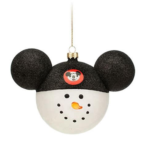 disney christmas ornament snowman mickey mouse club