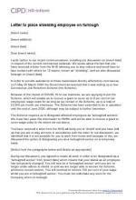 letter place shielding employee furlough cipd hr