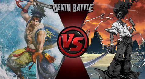 afro samurai battle battle musashi miyamoto vs afro samurai by