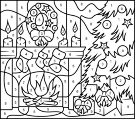 hard coloring pages for teachers hard color by number pages christmas fireplace online
