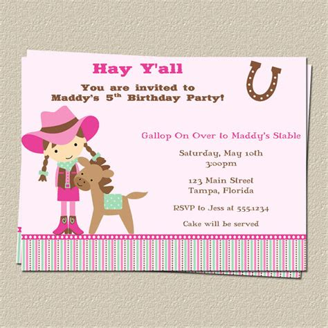 free printable birthday invitations with horses free printable horse birthday party invitations drevio