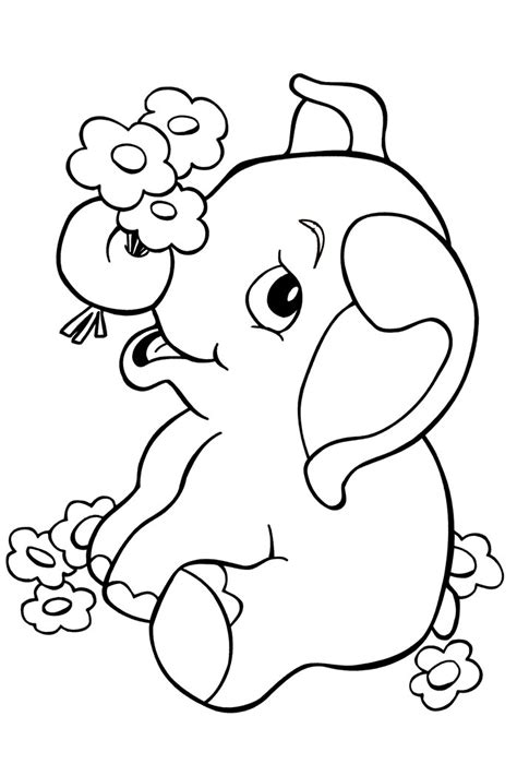 coloring pages of cartoon elephants elephant template animal templates free premium