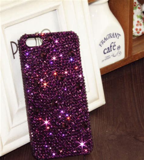Blingcase Studed For Iphone purple bling iphone 6 iphone 6 plus iphone 5s iphone 5 bling wallet