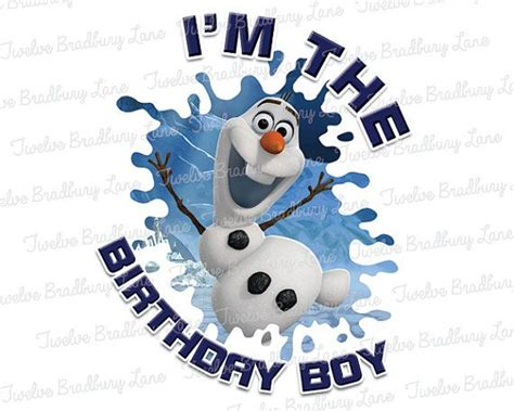 olaf printable birthday printable frozen olaf birthday boy disney iron on