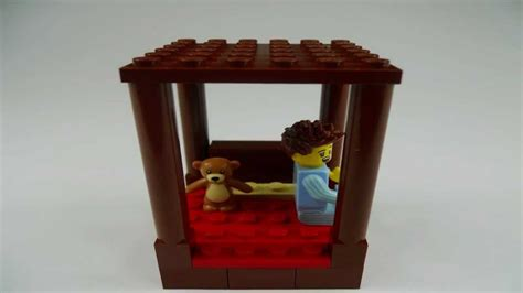 how to make a lego bed stop motion lego tutorial how to build a four poster bed