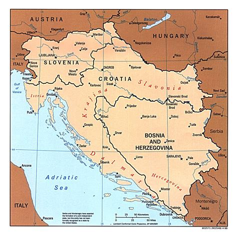 bosnia map reisenett bosnia maps