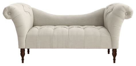 tufted chaise settee cameron tufted chaise talc contemporary upholstered