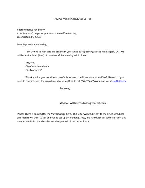 Petition Letter For Business business meeting request email template sle email