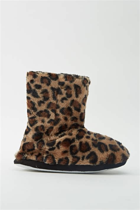 giraffe print slippers animal print faux fur slipper boots just 163 5