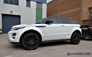 range rover evoque with custom finished smokey black