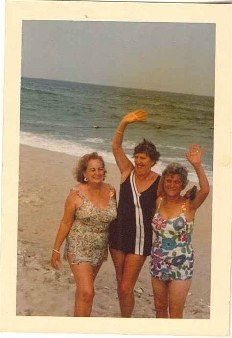 the chion a classic vintage old ladies in swimming suites vintage photograph three