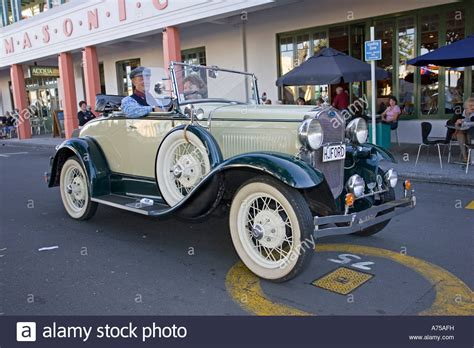 deco vintage car parade 2016 classic vintage ford two seater tourer motor car on road