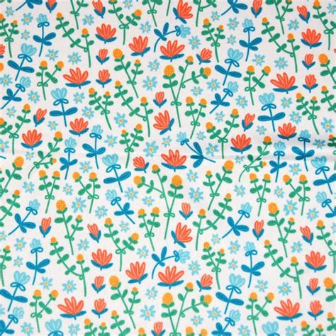flower doodle fabric field flowers doodle pattern fabric stolenpencil