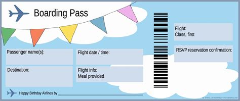 airline ticket invitation template free free boarding pass template search homeschool