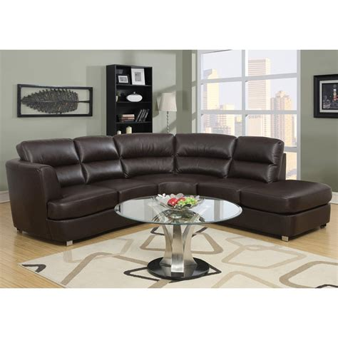 dark brown leather sectional sofa shop monarch specialties 3 piece dark brown bonded leather