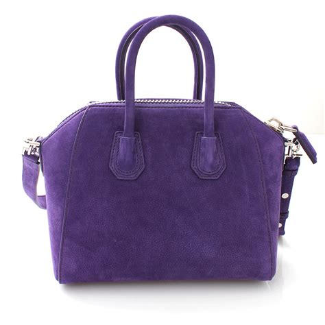 Givenchy Antigona Mini Bag givenchy antigona mini top handle bag in purple lyst