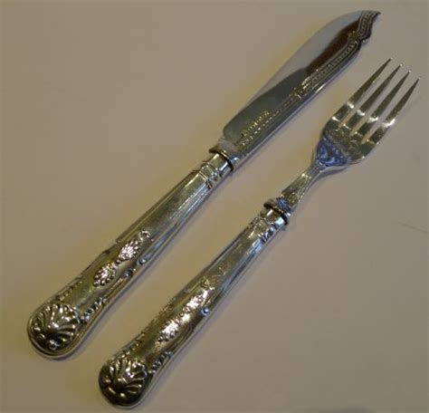 kings pattern knives and forks antique english kings pattern fish knives and forks in