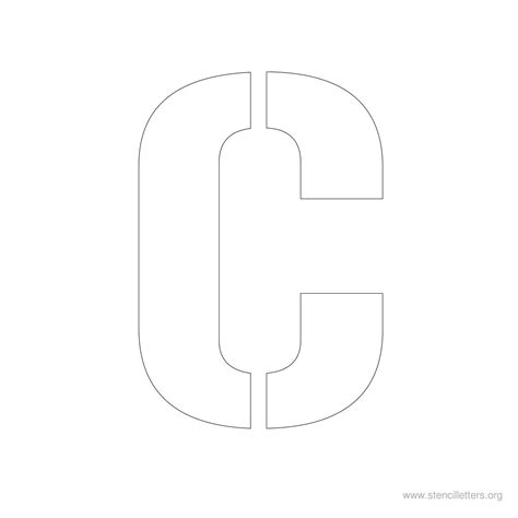 large letter c template pin stencil letter large w on
