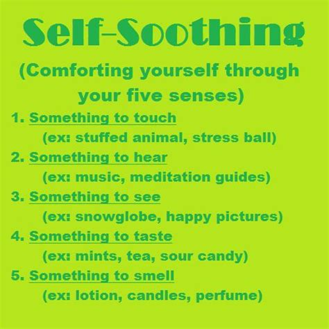 Dbt Self Soothing Anxiety Pinterest Anxiety Don T