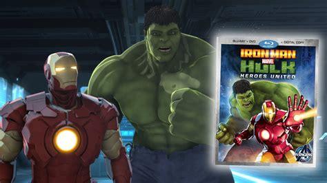 iron man hulk heroes united blu ray review