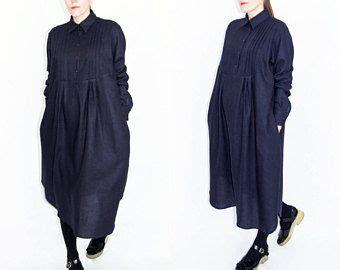 blauwe overhemd jurk blauwe linnen jurk linnen overhemd jurk geplooid lange