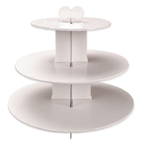 3 Tier White Cupcake Cake Stand product cupcake stand white 3 tier