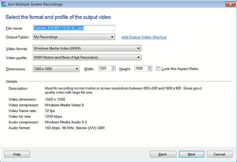 email format in spanish combina m 250 ltiples grabaciones de pantalla en un solo archivo