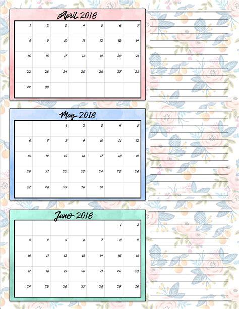 printable calendar quarter free printable 2018 quarterly calendars 2 designs
