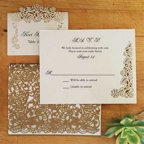 laser printable note cards laser cut place card rose vine blank paper orchid