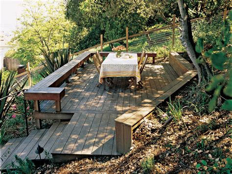 Decking Ideas For Sloping Garden Solutions Slope Success Sunset Magazine