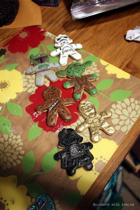 diy star wars salt dough ornaments handmade  ashley