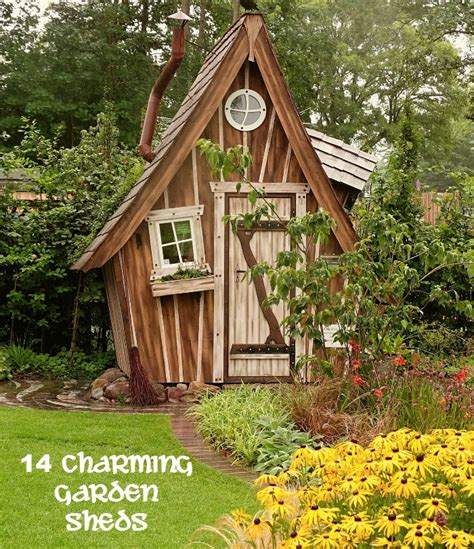 garden sheds add  whimsical touch    yard
