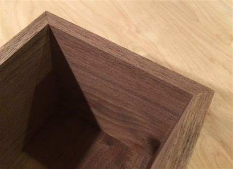 mitered corner custom wood cabinet make a jig for cutting miters and bevels