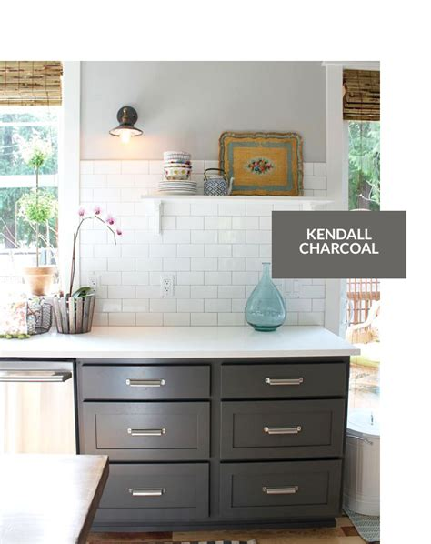 top 10 gray cabinet paint colors kendall charcoal