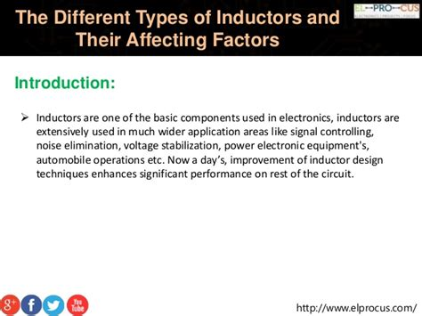 factors affecting inductance of an inductor the different types of inductors and their affecting factors